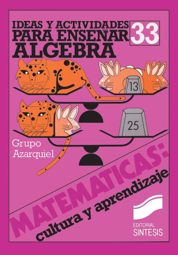 Ideas y actividades para enseñar el álgebra