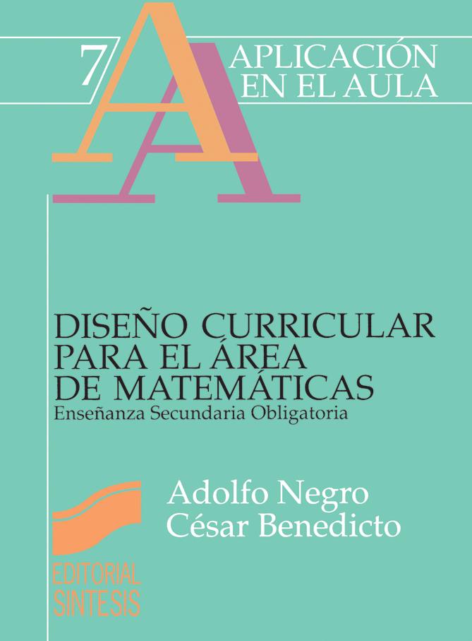 Diseño curricular para el área de matemáticas. ESO