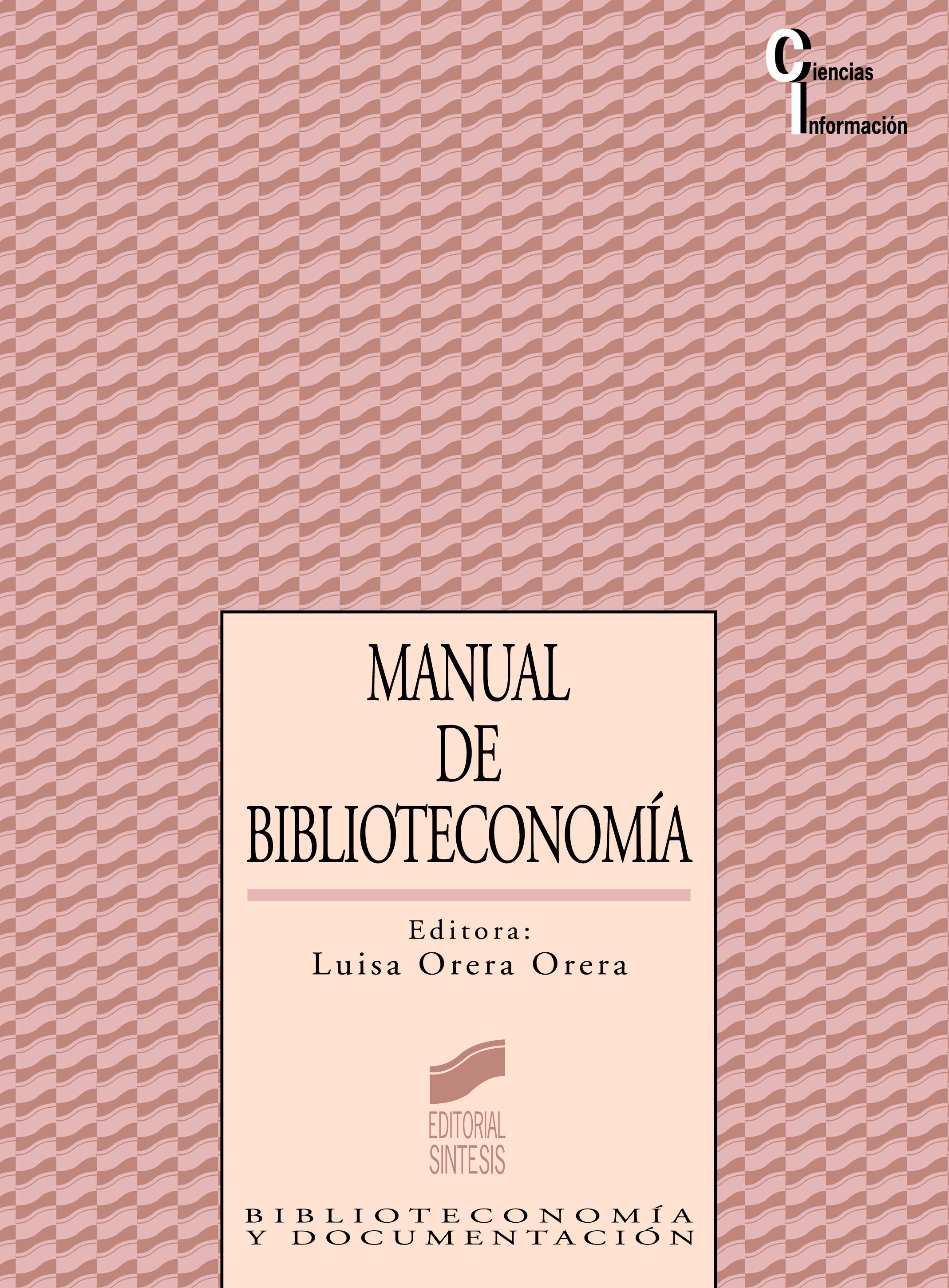 Manual de Biblioteconomía